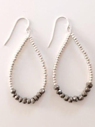Allison Fiutak Silver Beaded Earring