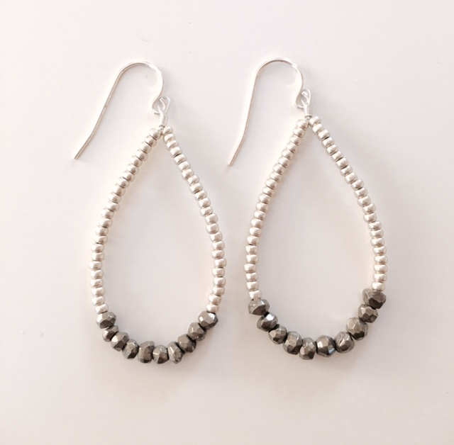 Allison Fiutak Silver Beaded Earring